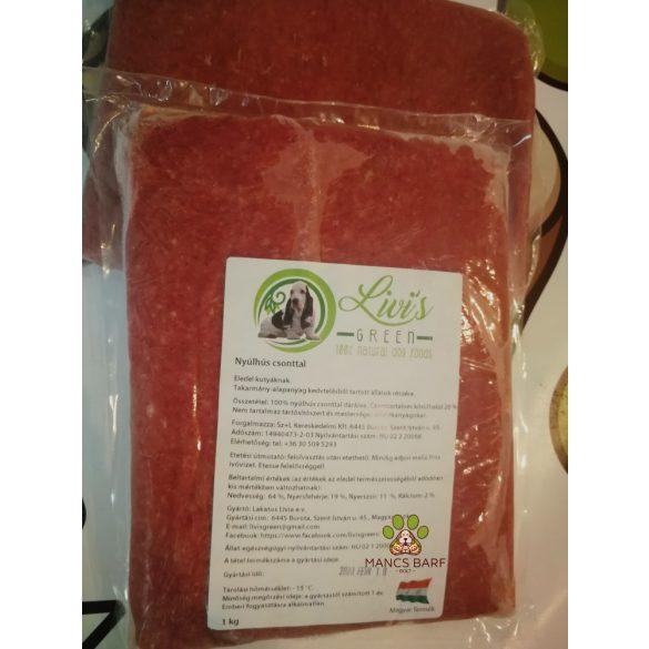 Nyúl,  darált csontos nyúlhús 1kg