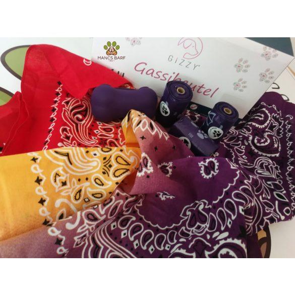Kakizacsi - Prémium, lila  darabra és csomagként (24roll + tartó + ajándék) Gizzy